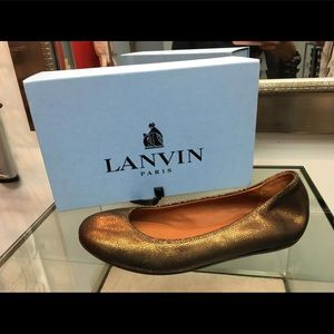 Lanvin Metallic  Ballerina Flats